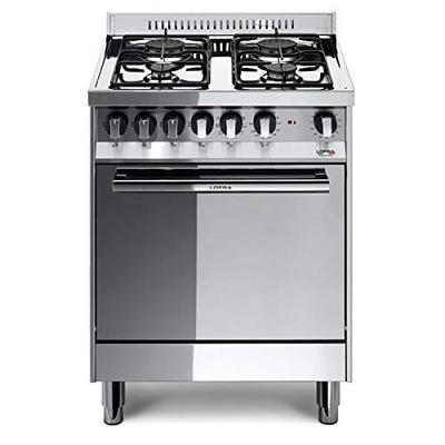 - Cucina Con Piano A Gas E Forno Ventilato 60x50 Acciaio Lucidato Classe  41010054 inox