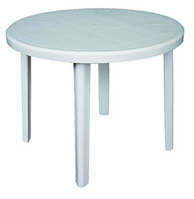 Tavolo Giardino Plastica Bianco.Areta Tavolo Giardino Plastica Tondo Colore Bianco Zeus Confronta
