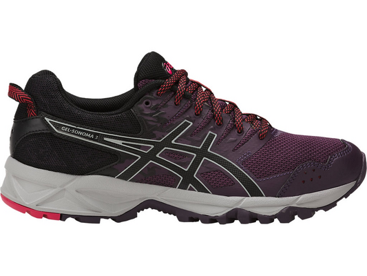 Asics Gel-Sonoma 3, Scarpe da Trail Running Donna, Viola (Winter Bloom/Black/Mid Grey), 40.5 EU