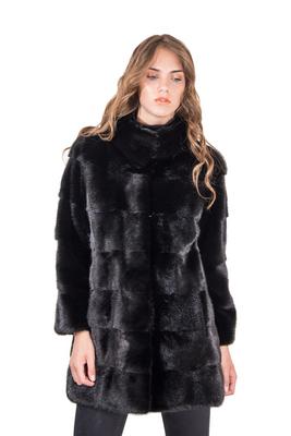 half off c1e96 be066 Romagna Furs • Cappotto In Pelliccia Di Visone Nero