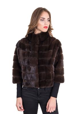 newest f0c2b e0aa2 Romagna Furs • Giacca In Pelliccia Di Visone Colore Mogano
