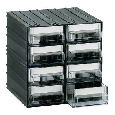 Leroy Merlin Contenitori Di Plastica.Contenitore Per Viti Con Cassetti 8 Scomparti Plastica Nero