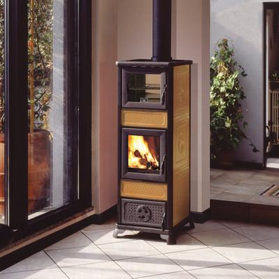 Innofire Stufa legna forno acciaio riscaldamento decorata GLORIA ...