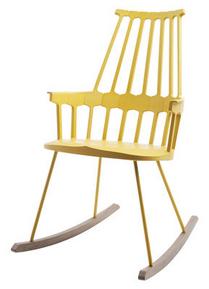 Kartell Rocking chair Comback sedia dondolo Giallo Legno Materiale ...