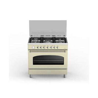 Cucina A Gas 5 Fuochi Forno Elettrico Multifunzione Ventilato Con Grill  Larghezza X Profondità 90x60 Cm