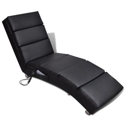 Vidaxl Poltrona Massaggiante Reclinabile Artificiale nero pelle ...