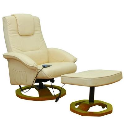 Poltrona Relax Massaggio Eva Reclinabile Crema