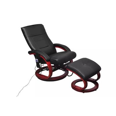 Vidaxl Poltrona Massaggiante Elettrica Poggiapiedi ecopelle nero ...